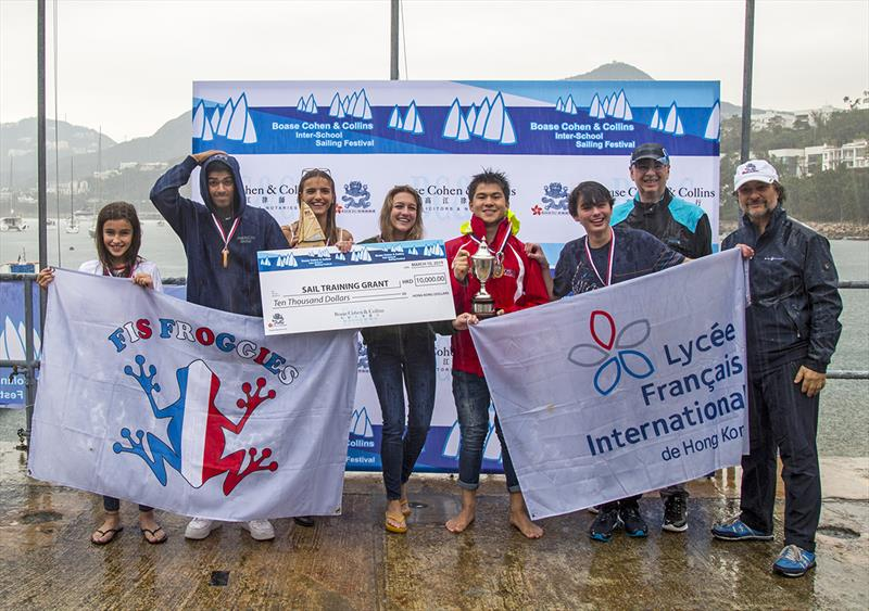 Division A 1st Place French International School - 2019 Boase Cohen & Collins Inter-School Sailing Festival - photo © RHKYC / Guy Nowell
