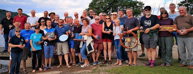 Prizewinners in the Lord Birkett Memorial Trophy 2019 at Ullswater - photo © Sue Giles