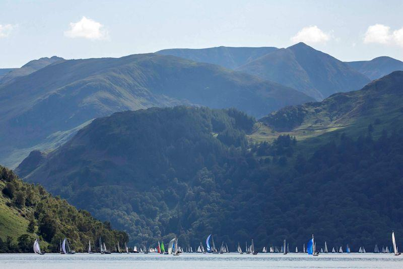 Ullswater filled with competitors for the Lord Birkett Memorial Trophy 2019 - photo © Tim Olin / www.olinphoto.co.uk