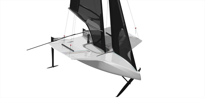 NTFM SYRA 18 - First double-handed monohull foiling dinghy - photo © Nils Frei and Yves Detrey
