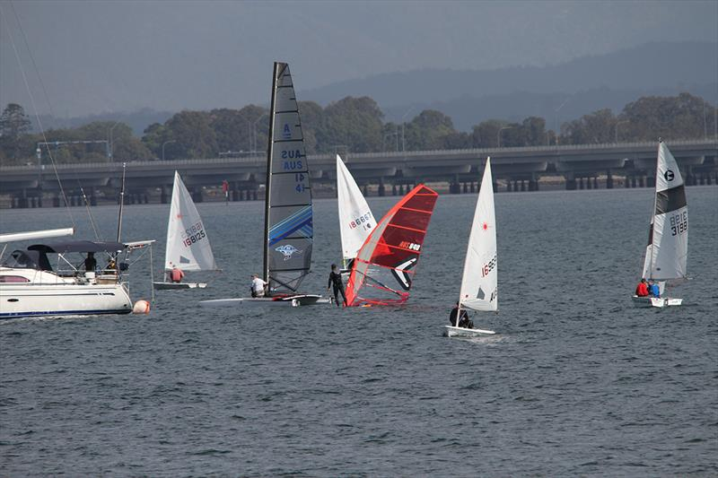 Catamaran and dinghy senior and junior fleet action at WinterBash - photo © Mark Dawson