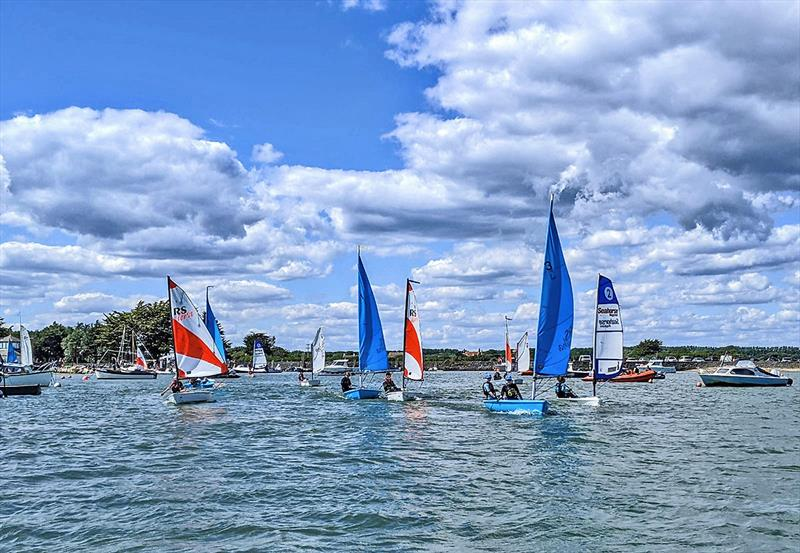 Junior sailing session at Keyhaven Yacht Club. - photo © Mark Jardine
