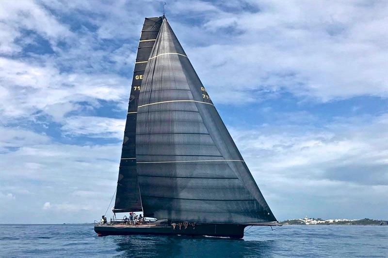 Jens Kellinghusen's Ker 56 Varuna at the finish of the Antigua Bermuda Race winning the IRC class outright. Great shot of her Cable-less Code 0... photo copyright Doyle Sails taken at  and featuring the  class