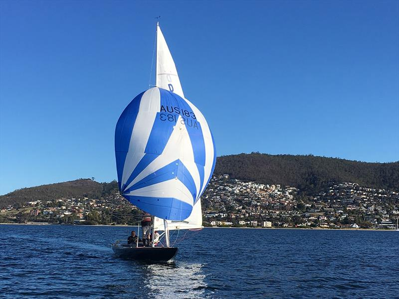 Magic running downwind - Tasmanian Dragon Championship 2019 - photo © Steven Shield