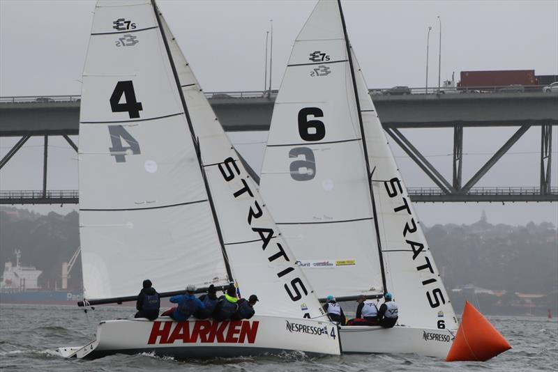 Nespresso Youth International Match Racing Cup - Day 4, Petite Final  -Stevenson leads Tapper - photo © Andrew Delves RNZYS