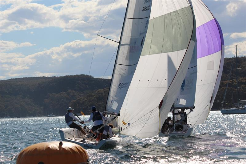 Jordan Stevenson and his YTP team of Mitch Jackson, George Angus, Jake Erson and Celia Willison took out the Harken Youth International Match Racing Championships at the Royal Prince Alfred Yacht Club  - photo © Royal Prince Alfred YC