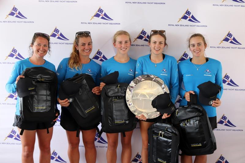 Winners with the Leith Mossman Trophy - Final day, NZ Womens Match Racing Championships, Day 4, February 12, 2019 photo copyright Andrew Delves taken at Royal New Zealand Yacht Squadron and featuring the Elliott 6m class