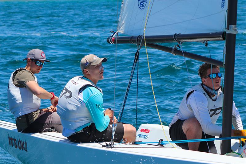 Frankie Dair, Niall Malone and Matt Leydon RNYZS YTP -  Governor's Cup Day 4, July 19, 2019 photo copyright Andrew Delves taken at Balboa Yacht Club and featuring the Elliott 6m class