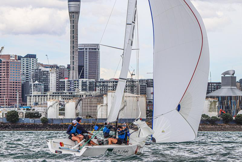 Day 2 - 2020 Harken Youth International Match Racing Cup - February 21, 2020 - Royal NZ Yacht Squadron, Auckland NZ - photo © Andrew Delves