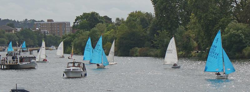 Bright and breezy: The Thames was busy on the last Saturday of the holidays for the beginning of the Minima Regatta - photo © John Forbes & Alastair Banks