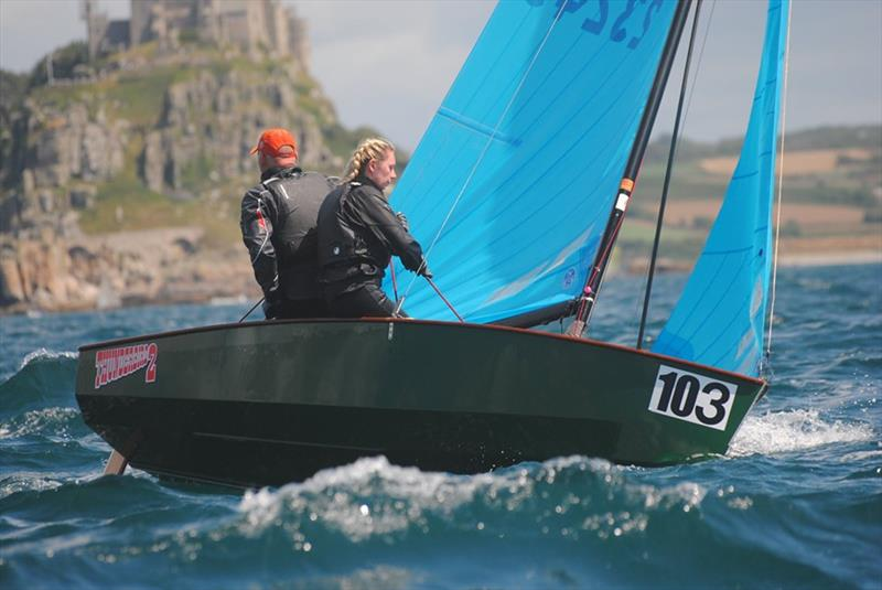 Richard and Millie on day 4 of the Allen, North Sails & Selden Enterprise Nationals at Mount's Bay - photo © Martyn Curnow