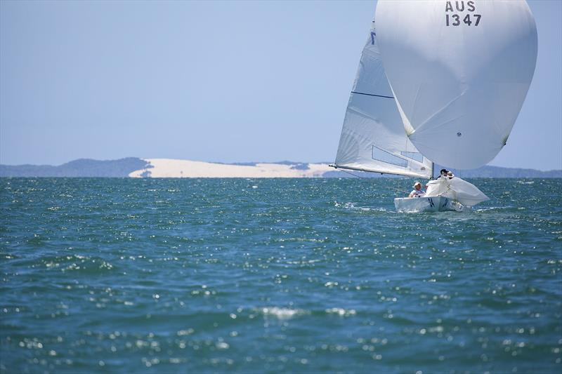 Fair Dinkum (Grant Hudson, Dean Horton, Matt Parrot, and Ariane Saroch) on day 3 of the Etchells Australian Championship - photo © John Curnow