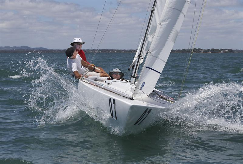 Havoc out on the water ensuring they were on pace for the last race of the series on day 4 of the Etchells Australian Championship - photo © John Curnow