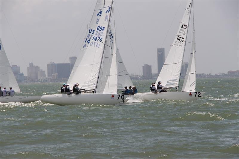Thursday's action for Races Five and Six at the 2019 Etchells World Championship photo copyright 2019 Etchells World Championship taken at Corpus Christi Yacht Club and featuring the Etchells class