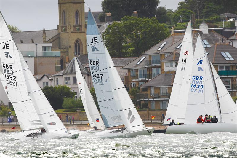 Exabyte, Jolly Roger & Rocketman (Etchells) and Dancer (Daring) in the Cowes Town Regatta on final day of Cowes Week 2019 - photo © Paul Wyeth / CWL