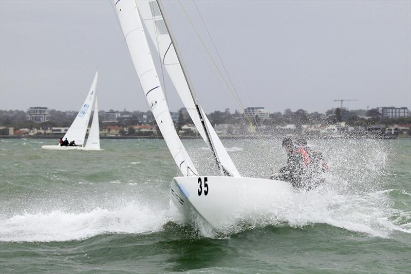 Busting through with Flying High. - 2020 Etchells Australian Championship day 4 - photo © John Curnow