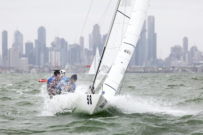 Madness from Hong Kong will remember this regatta - Charlie Manzoni, Charlie Boag, Kevin Crandall and Violet Fung. - 2020 Etchells Australian Championship day 4 - photo © John Curnow