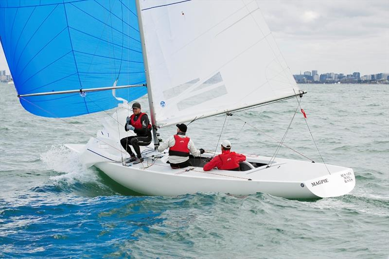 Magpie won Race Six, and the championship. Graeme Taylor, James Mayo and Tom Slingsby - 2020 Etchells Australian Championship, final day - photo © John Curnow