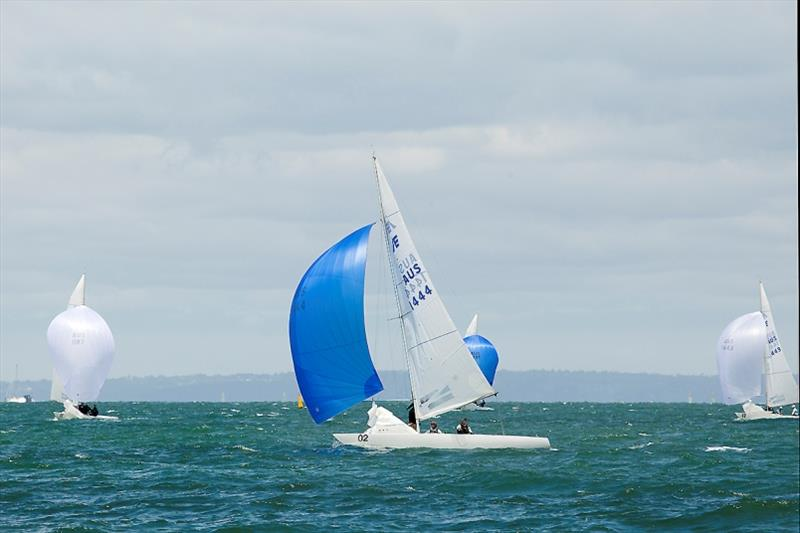 Ah yes, that is mast bend! We are looking at Fumanchu (Fourth Overall). - 2020 Etchells Australian Championship, final day - photo © John Curnow