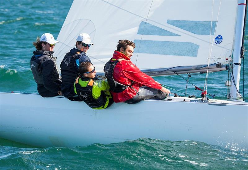 On a Mission – youth crew sitting in 15th place in their first ever regatta – Josh Galland, George Henderson, Ethan Hosking, and Lewis Sloane. - Etchells Victorian Championship 2020 - photo © John Curnow