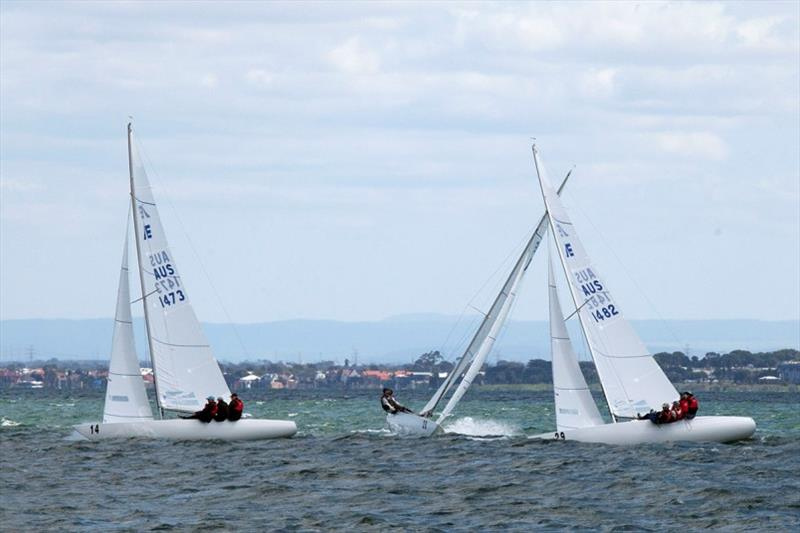 Close racing is assured with the Etchells. - 2020 Etchells Victorian Championship - photo © John Curnow
