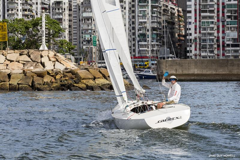 4h 10m 7s. Mark Thornburrow finishes first. Hong Kong ATI Solo 2020. - photo © Guy Nowell