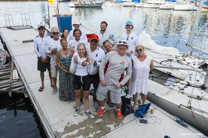 `And a good time was had by all.` Sailors and Support Crew, Hong Kong ATI Solo 2020. - photo © Guy Nowell