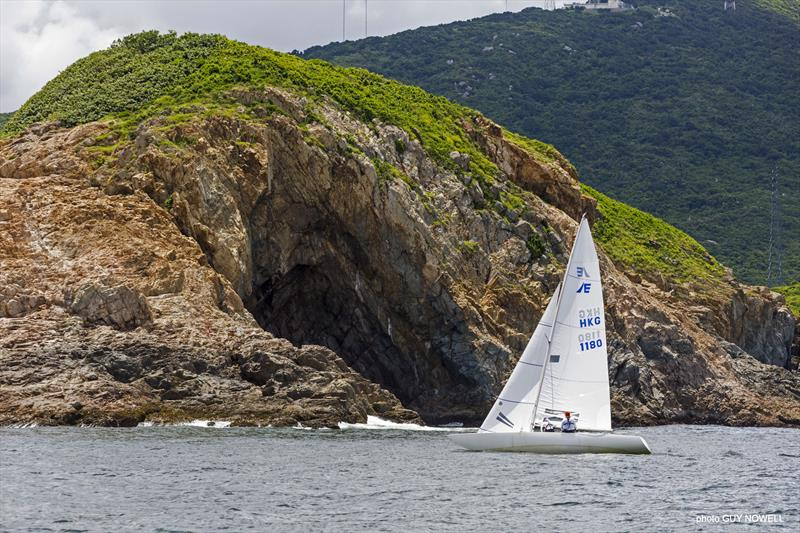 Christoph and Anna Michalski at Cape d'Aguilar. Etchells ATI Solo 2020 - photo © Guy Nowell