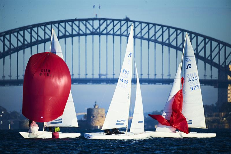 'The Coathanger' and part of the Etchells fleet. - photo © David Mandelberg