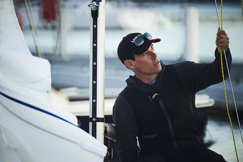 2018 Etchells World Champion, Mat Belcher, and yes, he has plenty of other accolades as well. - photo © David Mandelberg