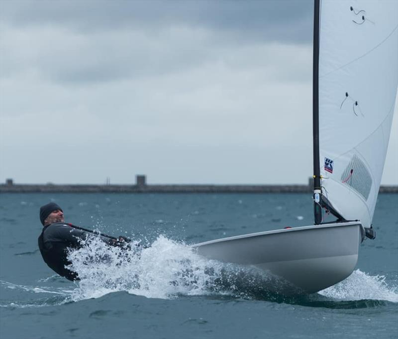 Steve Cockerill mastering windy weather sailing on Day 1 at the 2021 UK Europe National Championships - photo © Linus Etchingham