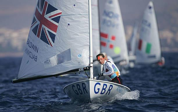 Laura Baldwin (GBR) in action in the women's single handed dinghy Europe Finals race - 2004 Olympic Regatta - photo © Clive Mason / Getty Images