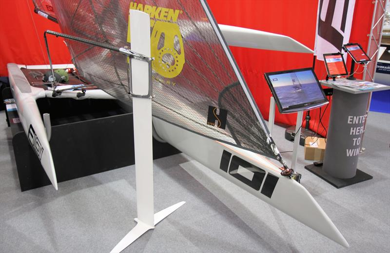 The F101 on the Harken stand at the RYA Suzuki Dinghy Show - photo © Mark Jardine / YachtsandYachting.com