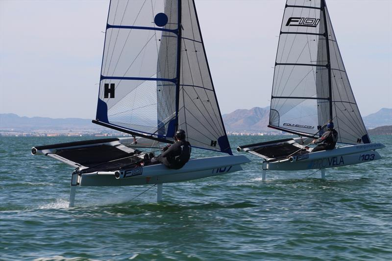 Close racing on the foils - photo © Foiling World