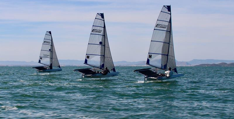 Heading into mark 1 at the First F101 Tribal Gathering - photo © Foiling World
