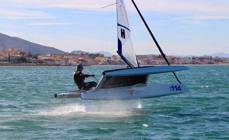 Simon Perry at the F101 End of season Tribal Gathering at Mar Menor - photo © Foiling World