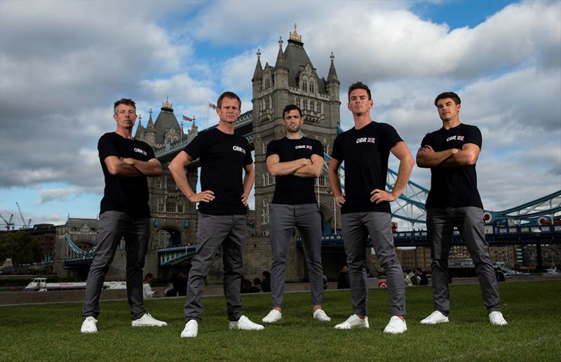 Great Britain SailGP team (l-r) Stu Bithell, Chris Draper, Matt Gotrel, Dylan Fletcher & Richard Mason - photo © Ian Roman / Great Britain SailGP