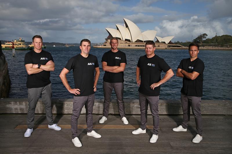 Australia SailGP team (l-r) Sam Newton, Jason Waterhouse, Kyle Langford, Tom Slingsby and Ky Hurst - photo © Jason McCawley