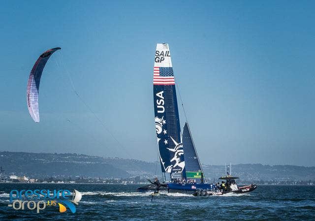 The SailGP USA team practice in San Francisco - photo © Erik Simonson / www.pressure-drop.us