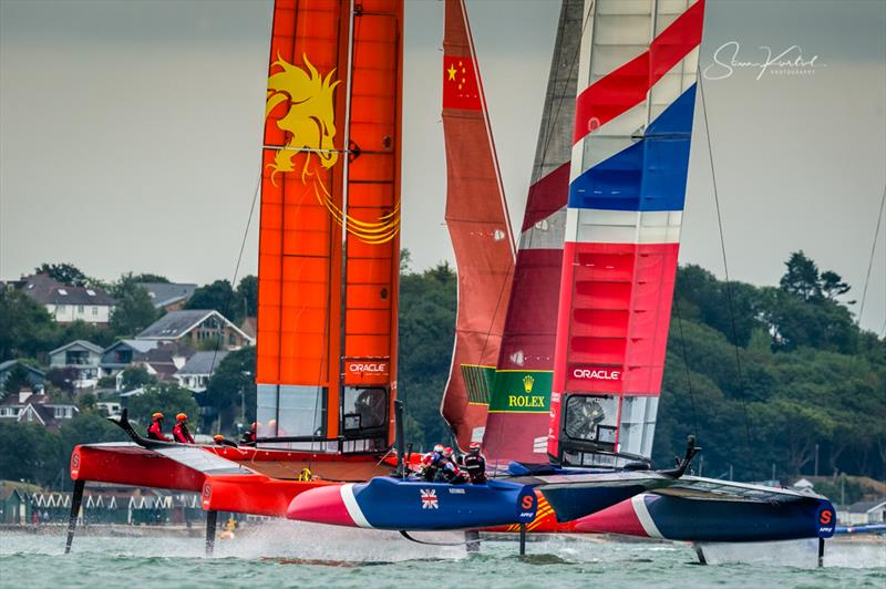 Cowes SailGP practise racing on Thursday evening - photo © Sam Kurtul / www.worldofthelens.co.uk