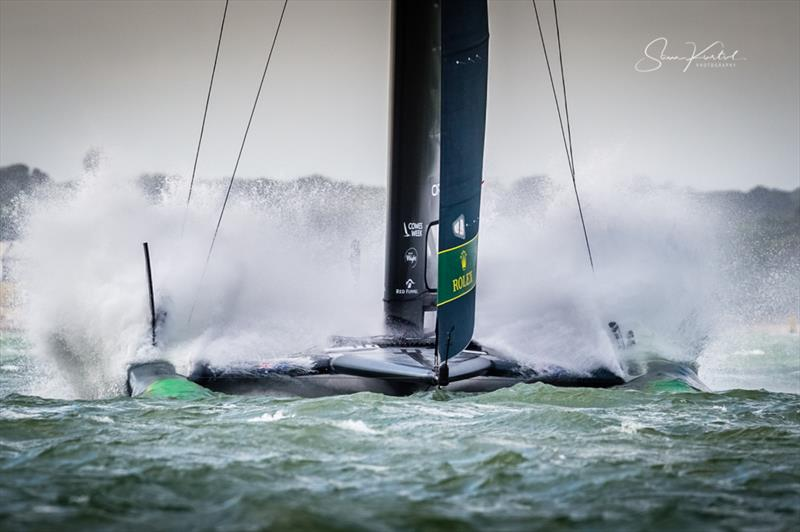 Strong winds for the Cowes SailGP on Sunday - photo © Sam Kurtul / www.worldofthelens.co.uk
