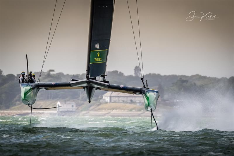 Strong winds for the Cowes SailGP on Sunday photo copyright Sam Kurtul / www.worldofthelens.co.uk taken at  and featuring the F50 class