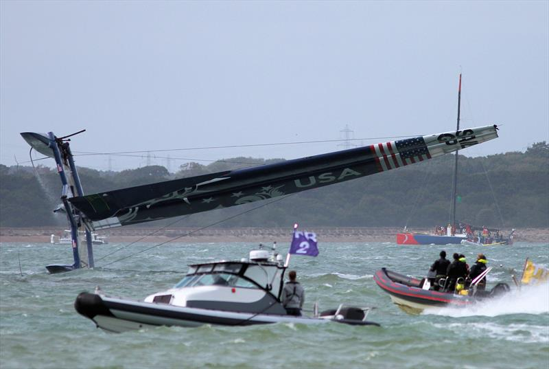 Strong winds for the Cowes SailGP on Sunday - photo © Mark Jardine