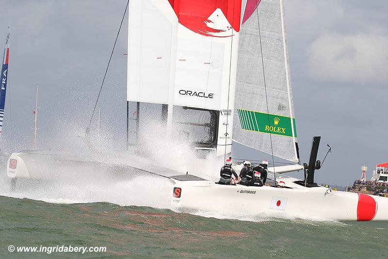 Strong winds for the Cowes SailGP on Sunday - photo © Ingrid Abery / www.ingridabery.com