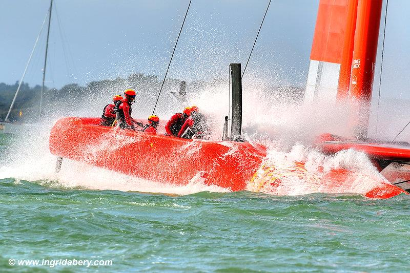 Strong winds for the Cowes SailGP on Sunday - photo © Ingrid Abery www.ingridabery.com