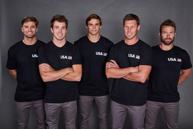 U.S. SailGP team (l-r) Hans Henken, Riley Gibbs, Mac Agnese, Rome Kirby, Dan Morris - photo © SailGP
