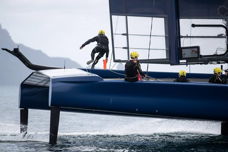 USA SailGP Team training off Whangarei, Northland, New Zealand - photo © Matt Knighton /USA SailGP Team