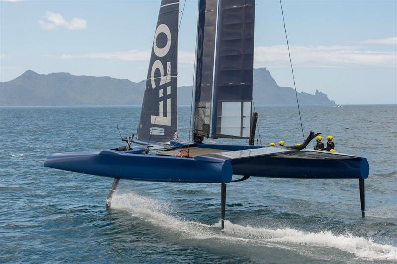 The newly announced China SailGP training off Whangarei in the F50 - photo © China SailGP