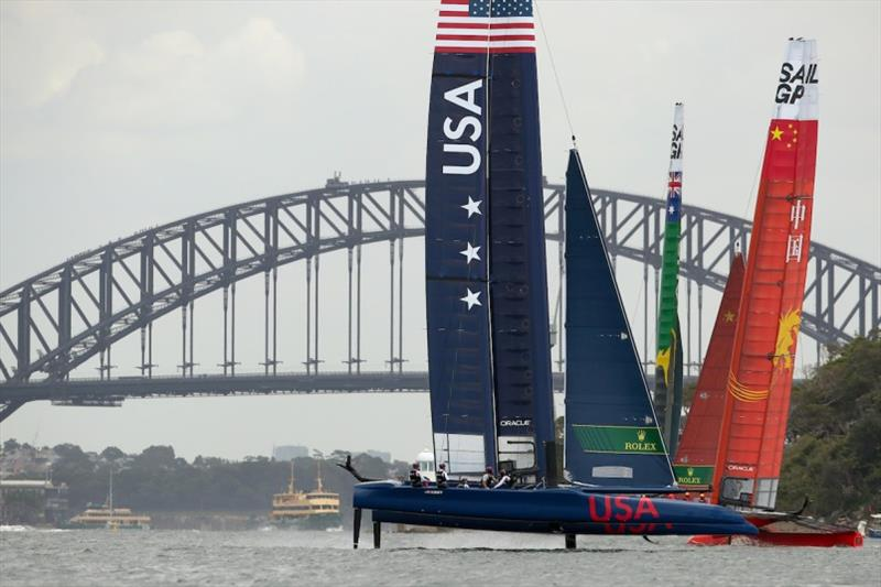 United States SailGP Team at Sydney Harbour - photo © Lloyd Images / SailGP