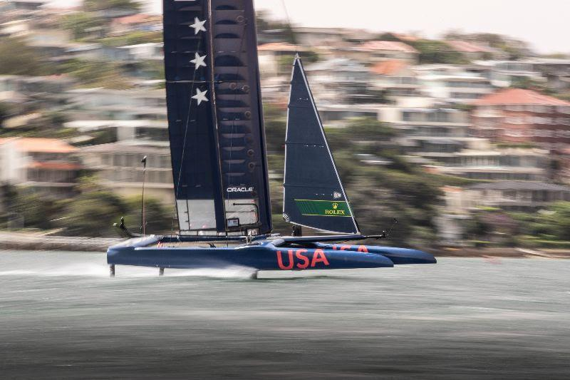 United States SailGP Team at Sydney Harbour - photo © Matt Knighton / United States SailGP